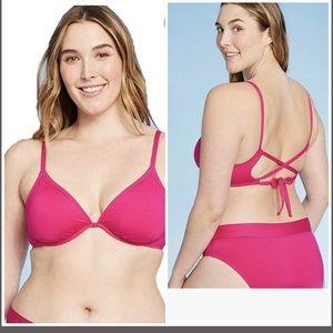 Kona Sol Pink Bikini Top size D/DD NEW